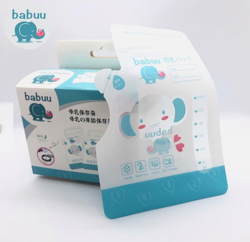 bán Túi trữ sữa mẫu voi có vòi Babuu hộp 50 túi 200ml - tongkhothienan.com