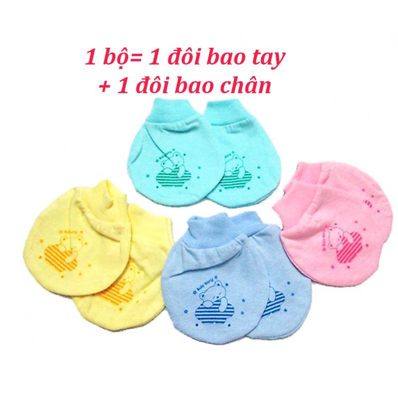 Bán buôn Bao tay bao chân sơ sinh cho bé giá sỉ - tongkhothienan.com