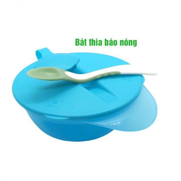 Bán buôn Bát kèm thìa báo nóng Babuu giá sỉ - tongkhothienan.com