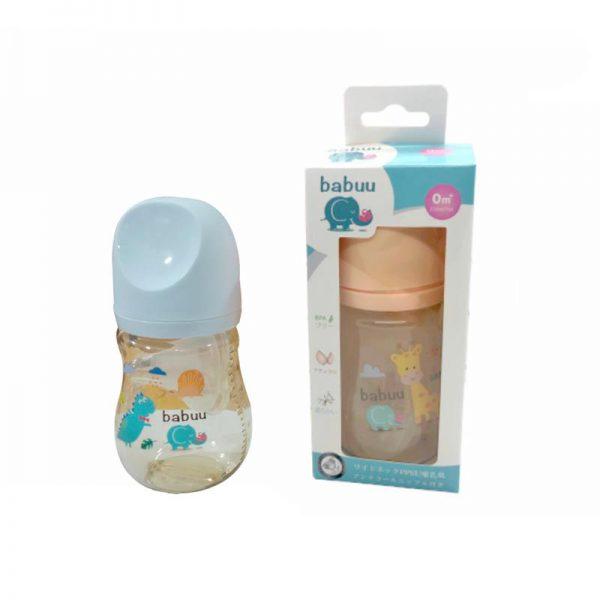 Bán buôn Bình sữa Babuu nắp khoét 210ml tặng kèm núm ti giá sỉ - tongkhothienan.com