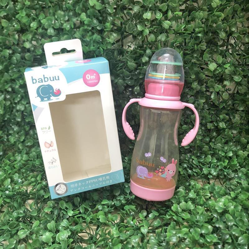 Bán buôn Bình sữa PPSU có nắp đồ chơi xúc xắc Babuu 270ml giá sỉ - tongkhothienan.com