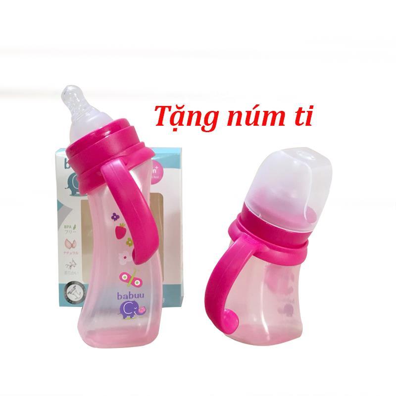 Bình sữa PPSU tay cầm cổ nghiêng Babuu 180ml( mẫu cũ) - tongkhothienan.com