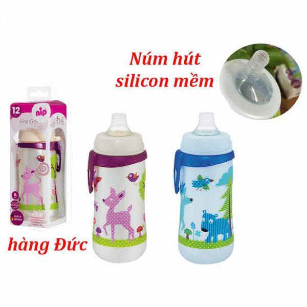 Bán buôn Bình uống nước Nip núm mềm 330ml giá sỉ - tongkhothienan.com