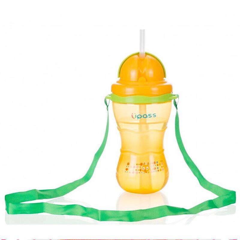 Bán buôn Bình uống nước có ống hút và dây đeo Upass 300ml giá sỉ - tongkhothienan.com