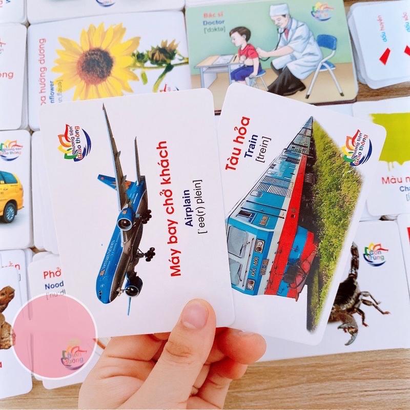 Bán buôn Thẻ học thông minh cho bé 16 chủ đề 416 thẻ( song ngữ) giá sỉ - tongkhothienan.com