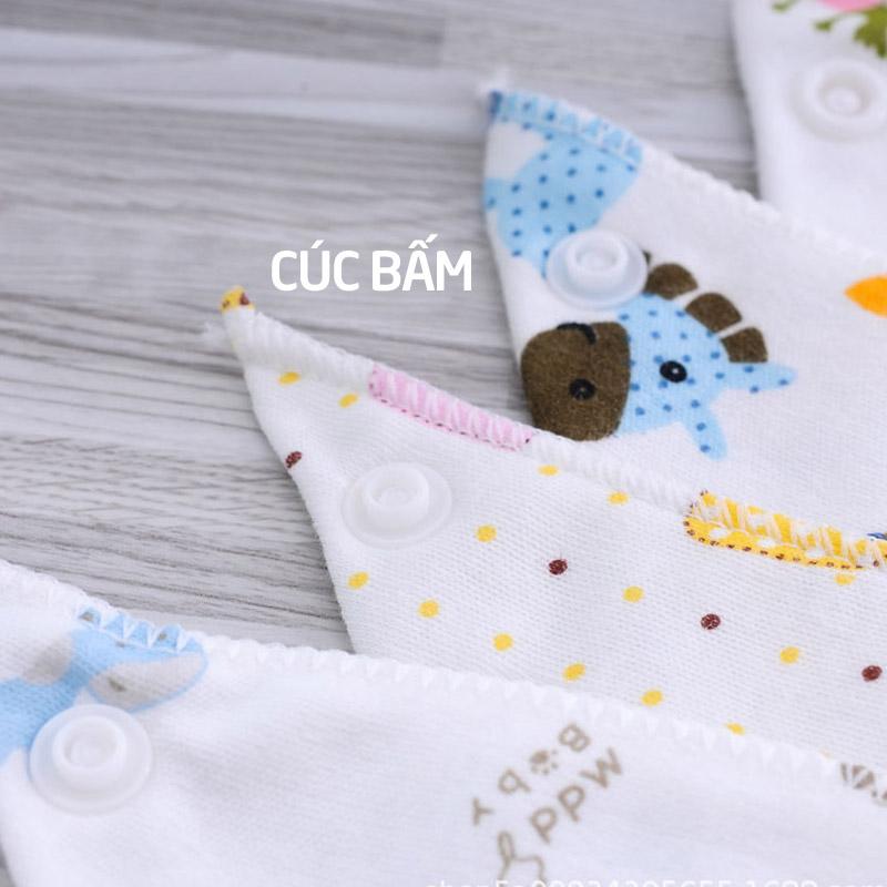Bán buôn Khăn yếm tam giác cho bé cúc bấm vải xô( gói 10c) giá sỉ - tongkhothienan.com
