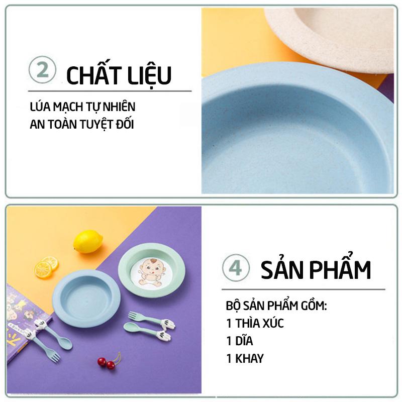 Bán buôn Đĩa kèm thìa dĩa Children giá sỉ - tongkhothienan.com