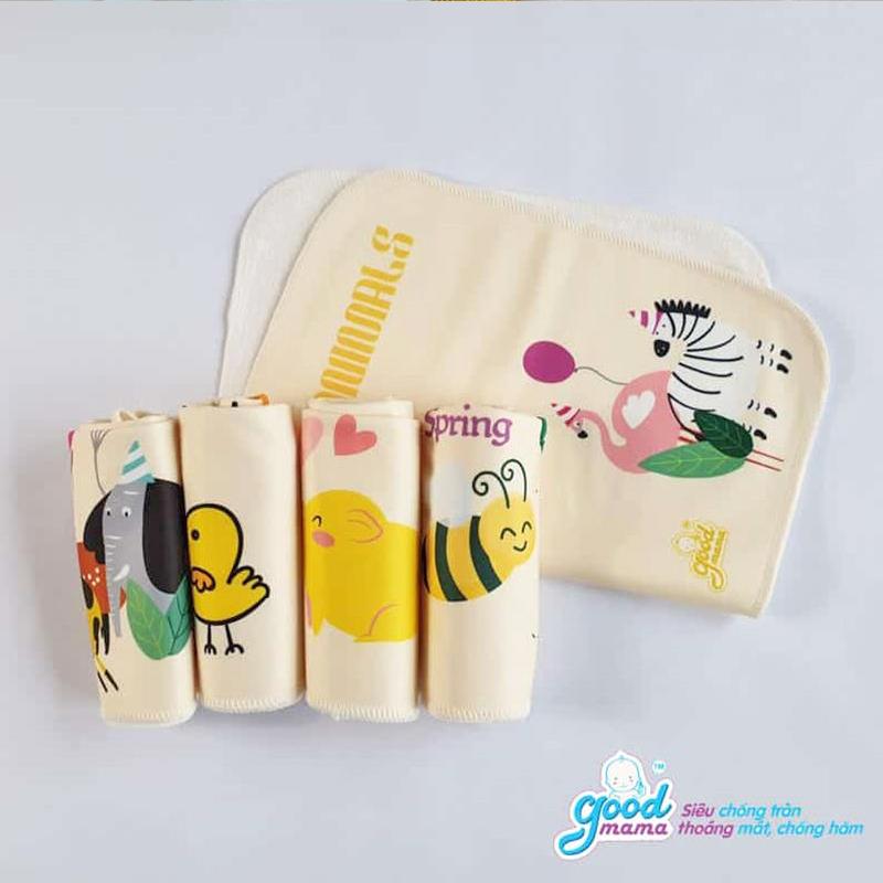 Bán buôn Tấm lót chống thấm cho bé 4 lớp Goodmama 50x70cm giá sỉ - tongkhothienan.com