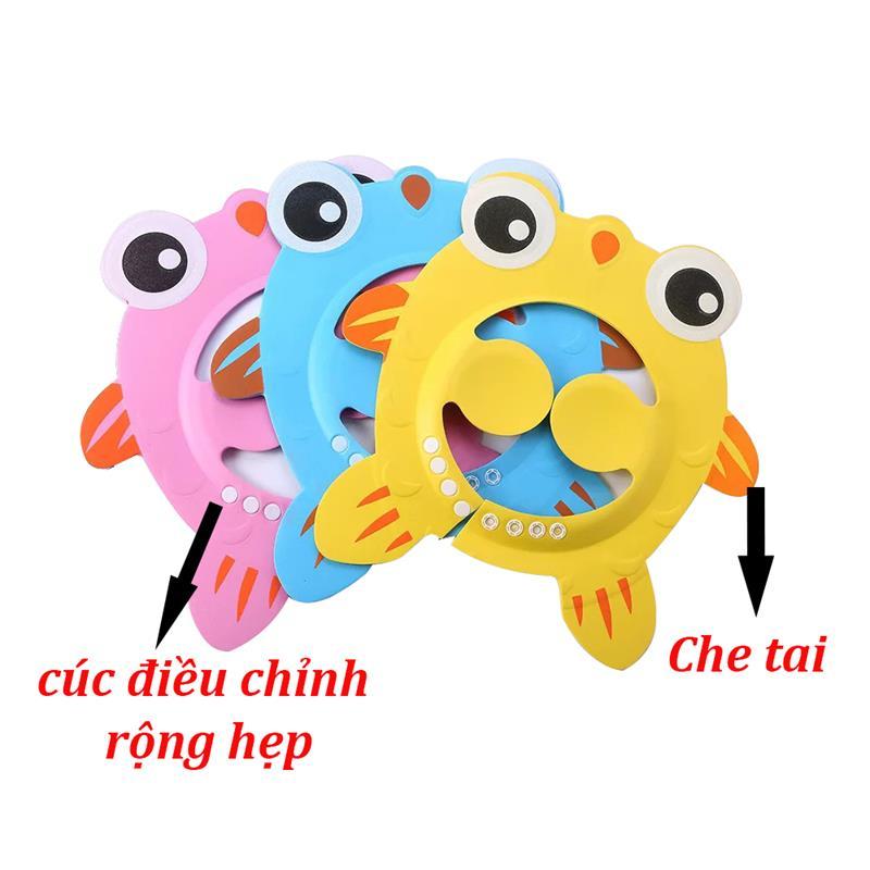 Bán buôn Mũ gội đầu cho bé hình cá giá sỉ - tongkhothienan.com