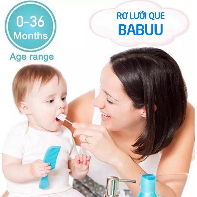 Bán buôn Que rơ lưỡi cho bé Babuu hộp 30 chiếc giá sỉ - tongkhothienan.com