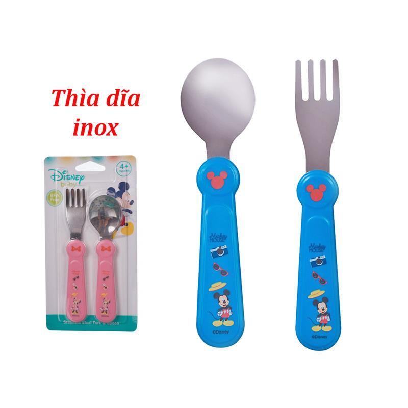 Bán buôn Set thìa dĩa inox Disney giá sỉ - tongkhothienan.com