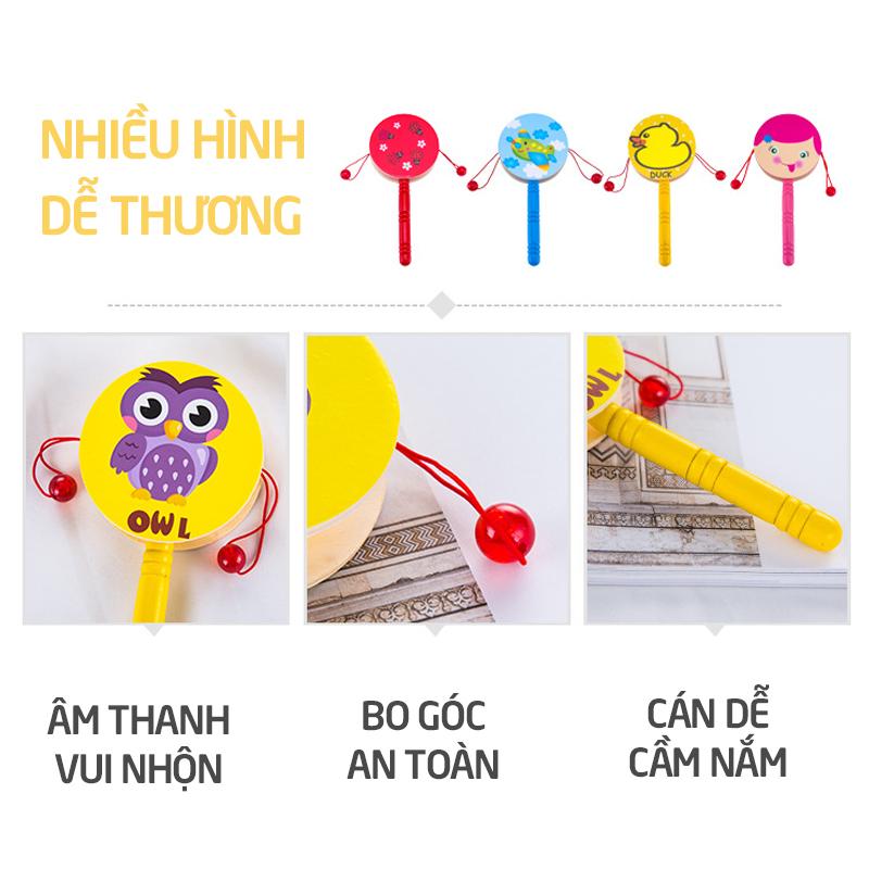 Bán buôn Xúc xắc lục lạc trống gỗ giá sỉ - tongkhothienan.com