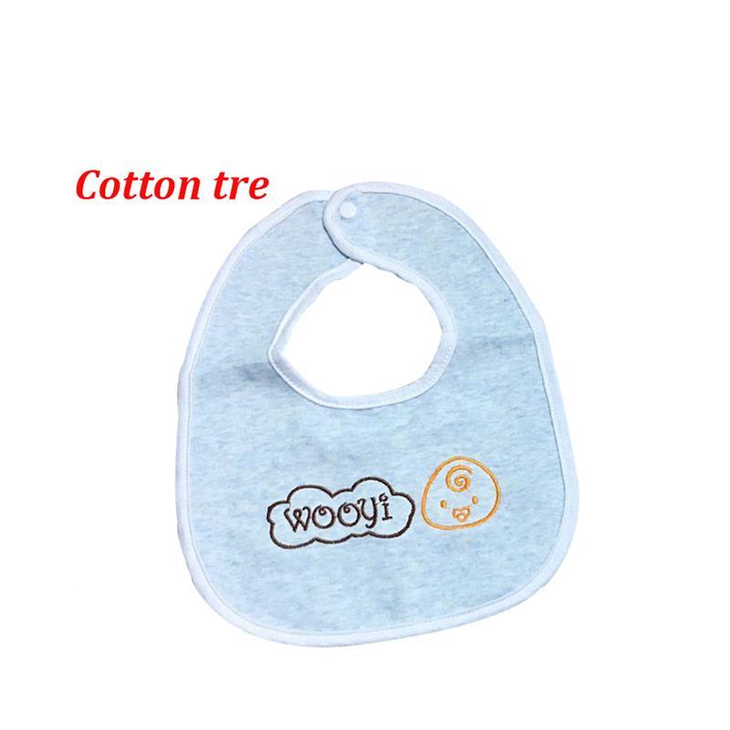 Bán buôn Set 3 yếm cho bé cotton sợi tre Wooji vuông giá sỉ - tongkhothienan.com