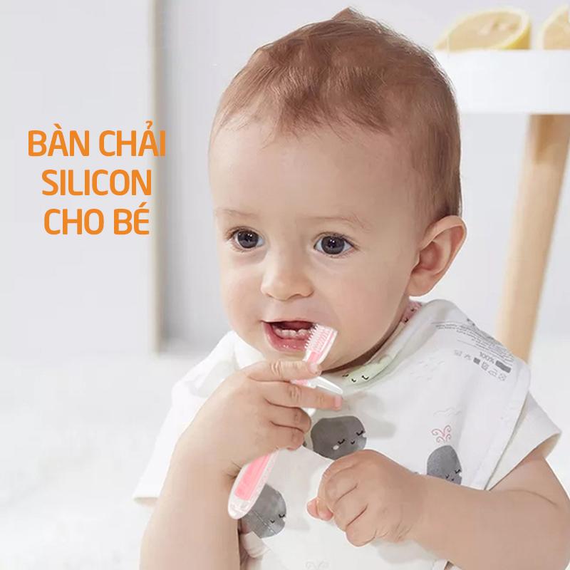 Bán buôn Bàn chải đánh răng cho bé Silicon Babuu giá sỉ - tongkhothienan.com