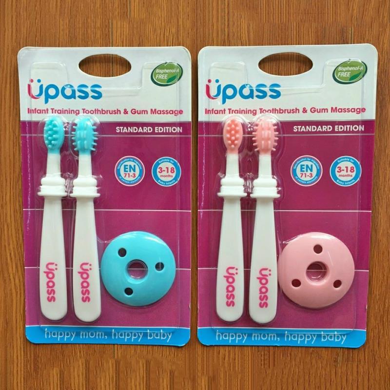 Bán buôn Bàn chải đánh răng cho bé silicon Upass( vỷ 2 chiếc) giá sỉ - tongkhothienan.com