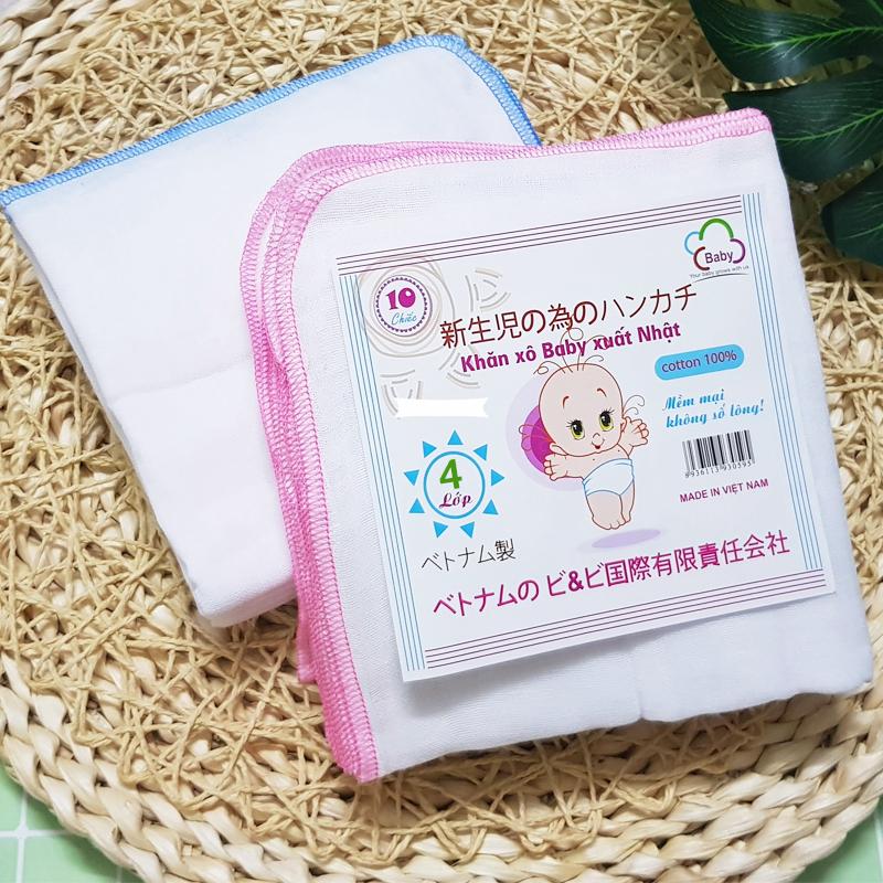 Bán buôn Khăn xô sữa trắng 4 lớp(gói 10 khăn) giá sỉ - tongkhothienan.com