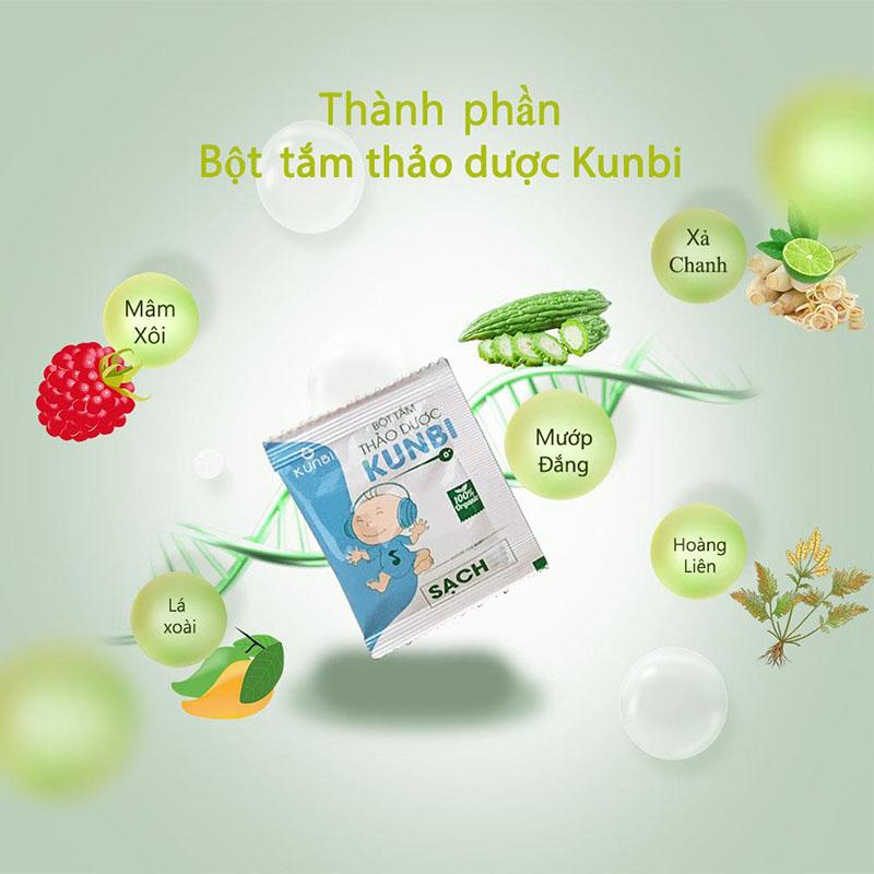 Bán buôn Bột tắm trẻ em thảo dược Kunbi trị rôm sẩy, hăm da, mụn nhọt giá sỉ - tongkhothienan.com
