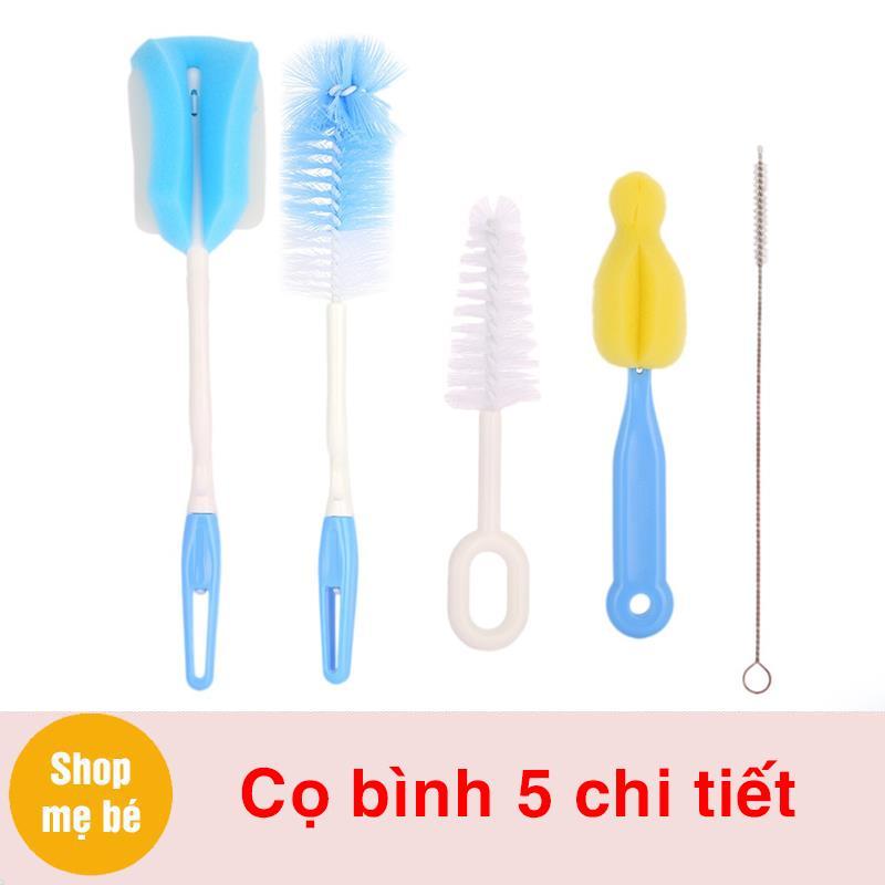 Bán buôn Cọ bình sữa 5 chi tiết dụng cụ vệ sinh bình sữa giá sỉ - tongkhothienan.com