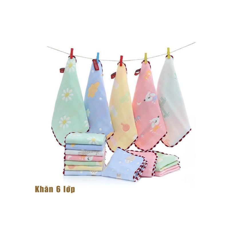 Bán buôn Túi 5 khăn sữa 6 lớp Woooji mềm mại cho bé giá sỉ - tongkhothienan.com