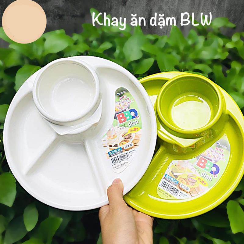 Bán buôn Khay ăn dặm cho bé Nhật Inomata( mẫu tròn) giá sỉ - tongkhothienan.com