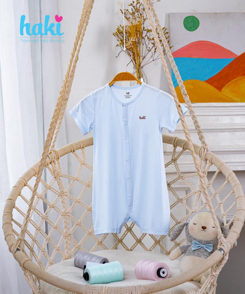 Bộ body đùi vải sồi Haki BM020 size 9-12m, 12-18m - tongkhothienan.com