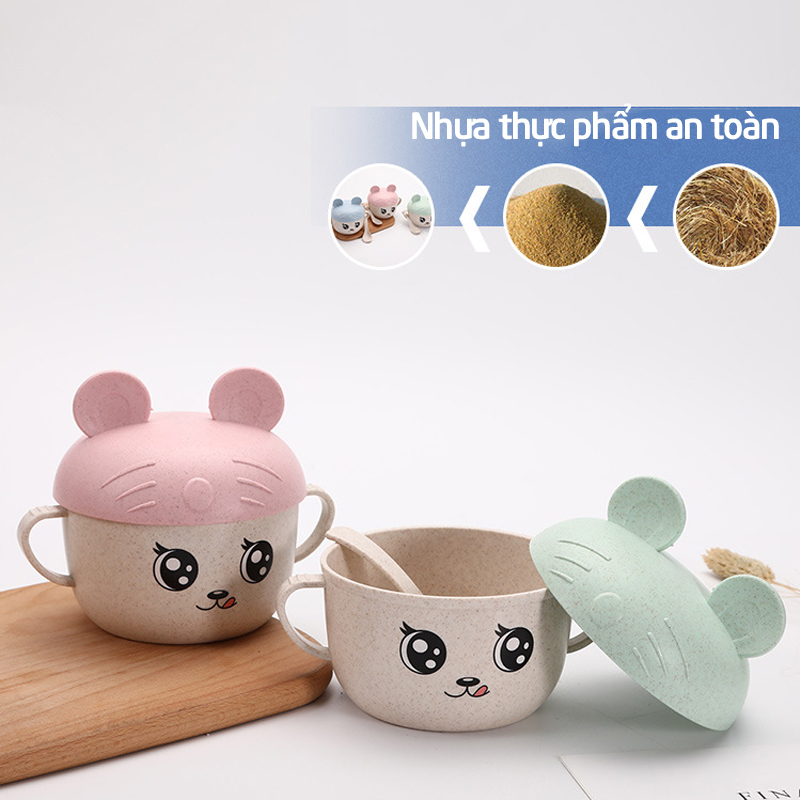 Bán buôn Bát thìa lúa mạch Mickey giá sỉ - tongkhothienan.com