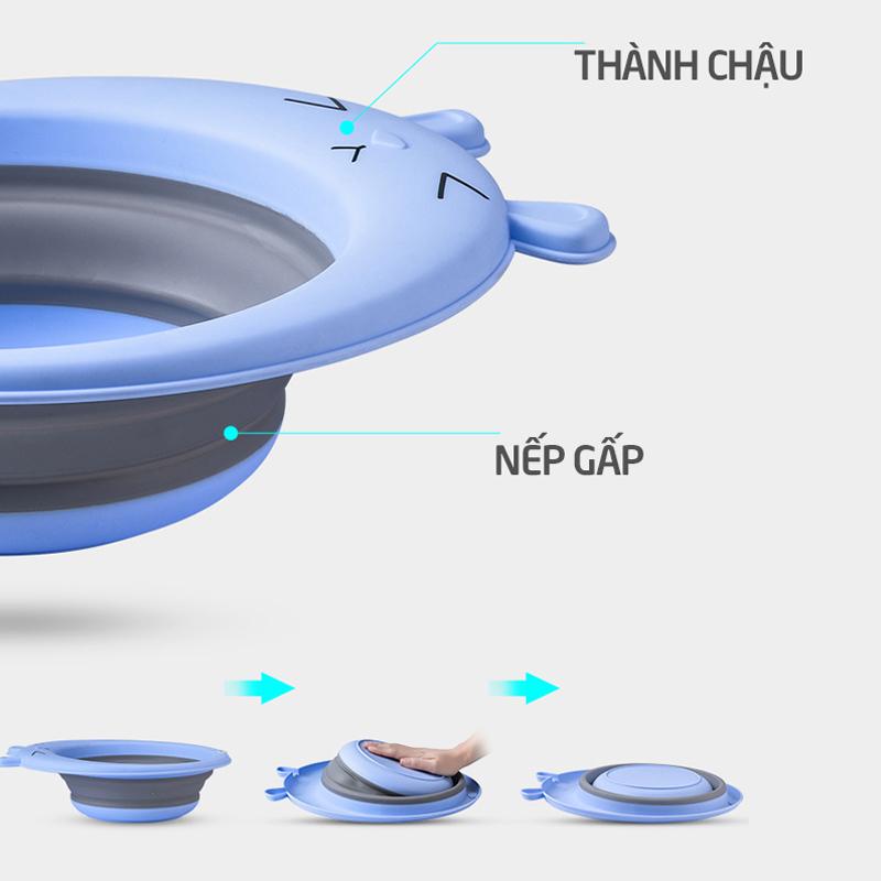 Bán buôn Chậu gấp gọn rửa mặt cho bé giá sỉ - tongkhothienan.com
