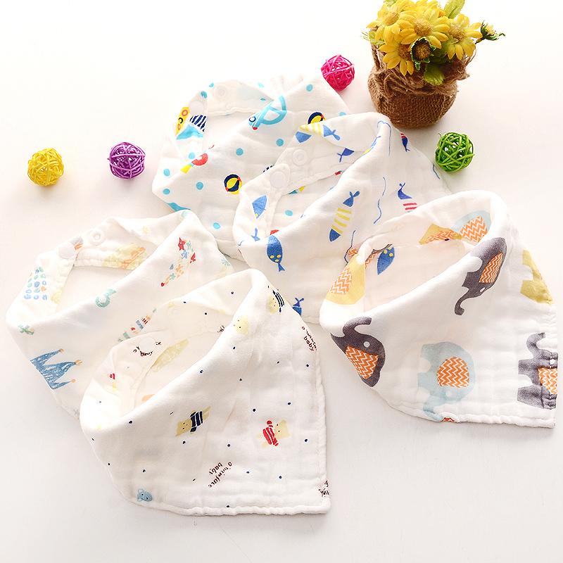 Bán buôn Set 5 khăn yếm sợi tre cúc bấm Wooji giá sỉ - tongkhothienan.com