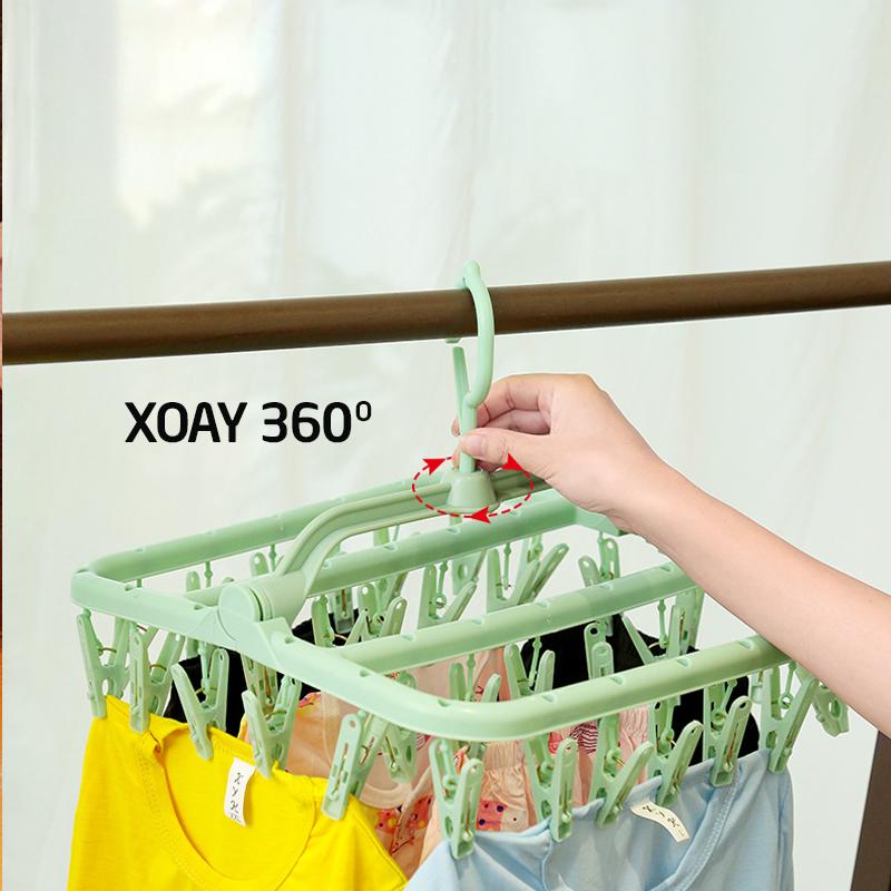 Bán buôn Giá móc treo quần áo cho bé 32 móc giá sỉ - tongkhothienan.com