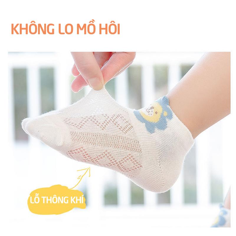Bán buôn Vỷ 5 đôi tất lưới cho bé giá sỉ - tongkhothienan.com