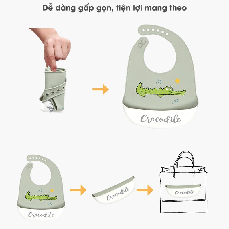 Bán buôn Yếm máng ăn dặm silicon cho bé giá sỉ - tongkhothienan.com