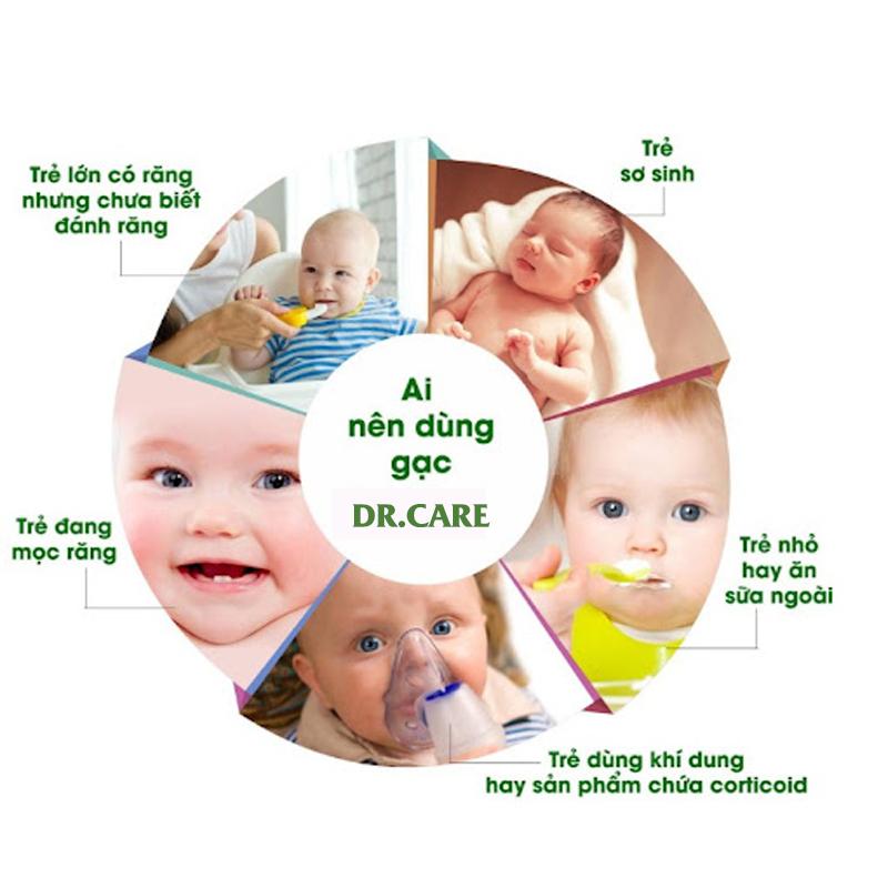Bán buôn Gạc răng miệng Dr Care vệ sinh miệng rơ lưỡi cho bé giá sỉ - tongkhothienan.com