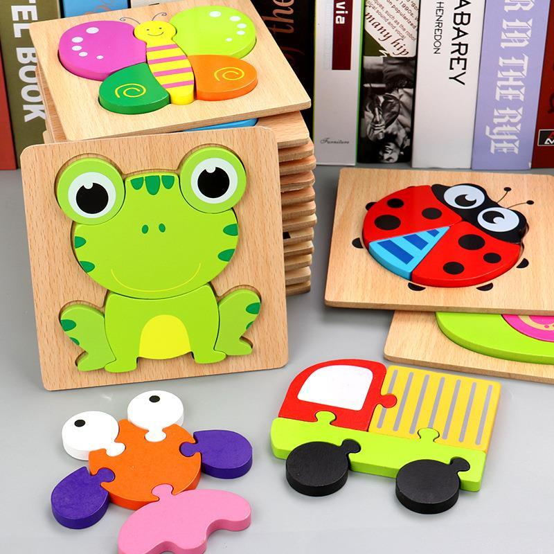 Tranh ghép gỗ nổi 3d đồ chơi cho bé - tongkhothienan.com