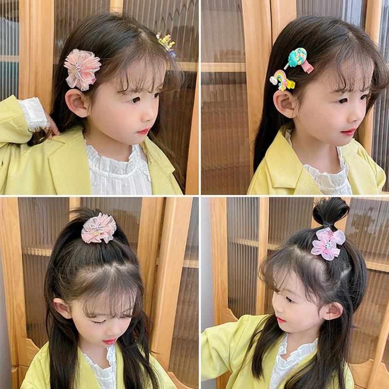 Bán buôn Phụ kiện tóc kẹp nơ buộc tóc cài tóc cho bé gái 10 món giá sỉ - tongkhothienan.com