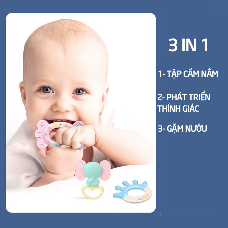 Đồ chơi xúc xắc gặm nướu 2 in 1 cho bé( hộp 8 món) - tongkhothienan.com