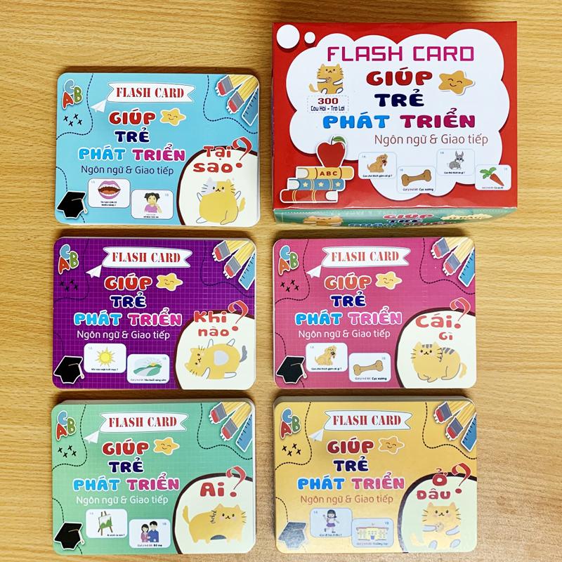 Bán buôn Bộ thẻ học thông minh phát triển ngôn ngữ 300 thẻ giá sỉ - tongkhothienan.com