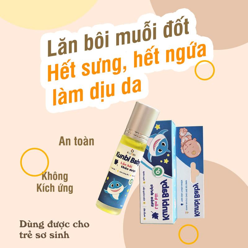 Lăn bôi muỗi đốt, côn trùng Kunbi - tongkhothienan.com