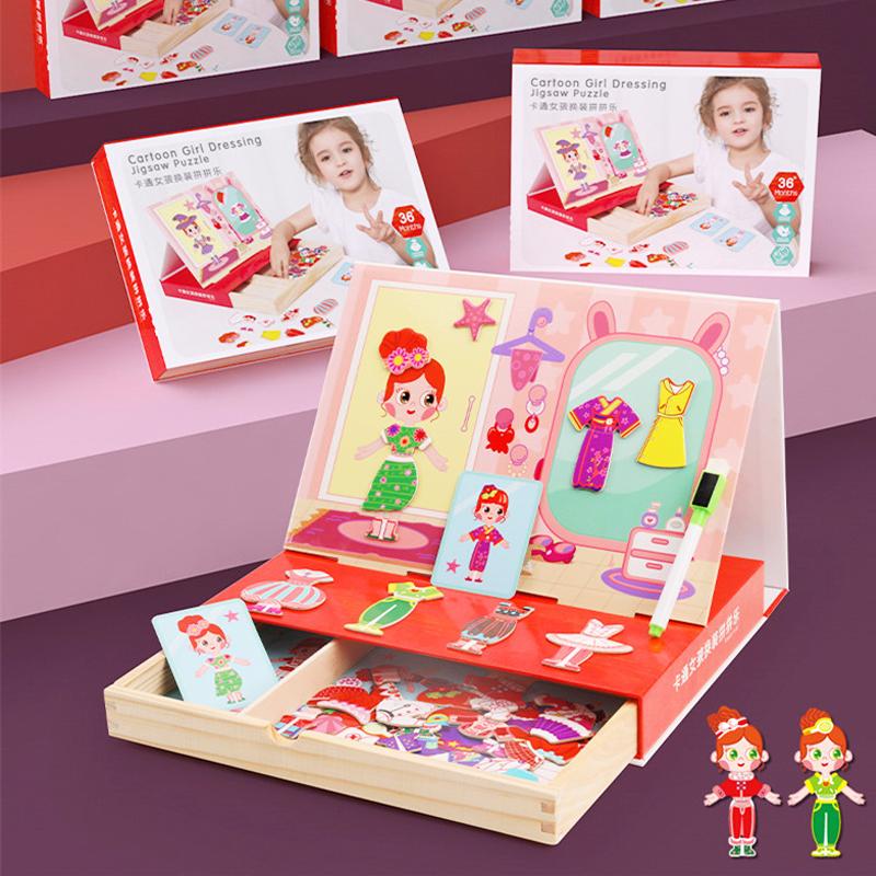 Đồ chơi thiết kế thời trang bé gái bằng gỗ - tongkhothienan.com