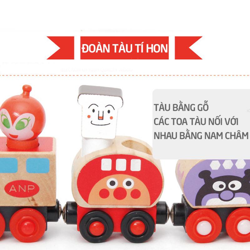 Đoàn tàu tí hon gỗ nam châm - tongkhothienan.com