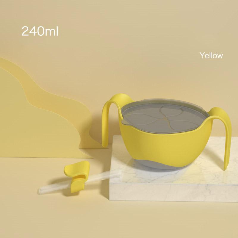 Bát ăn dặm chống lật silicon 3 chức năng kèm ống hút Misuta - tongkhothienan.com
