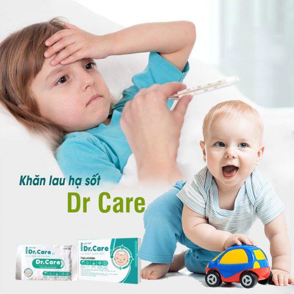 Khăn lau hạ sốt Dr Care cho bé - tongkhothienan.com