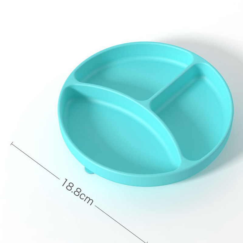 Khay ăn dặm silicon đế hít chống đổ Misuta - tongkhothienan.com