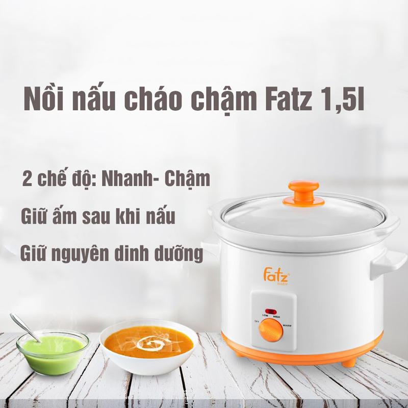 Bán buôn Nồi nấu cháo chậm Fatz Baby 1.5l giá sỉ - tongkhothienan.com