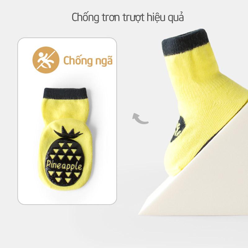 Tất trẻ em chống trơn trượt hoa quả Nemo - tongkhothienan.com