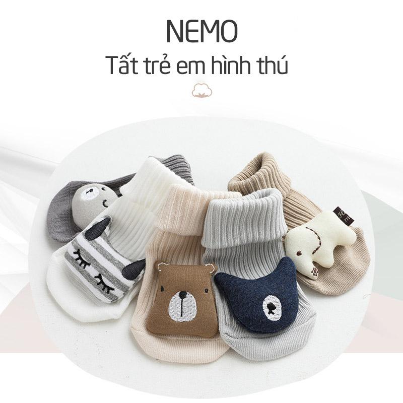 Tất trẻ em cao cổ hình thú 3D Nemo - tongkhothienan.com